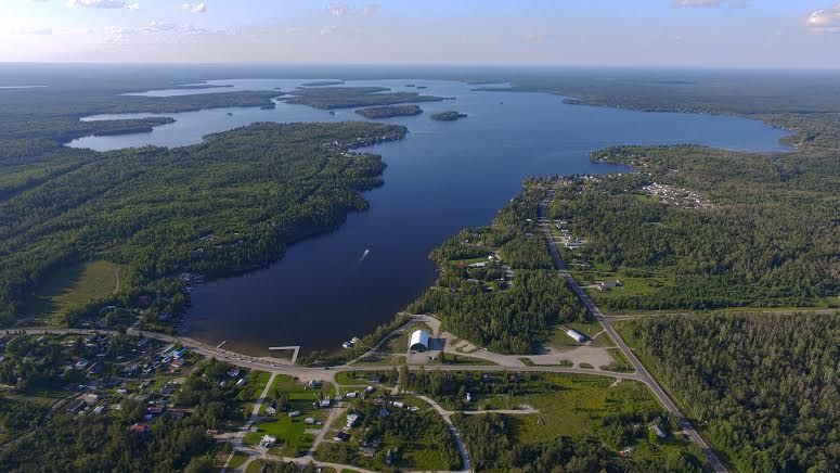 Aerial view of Remi Lake